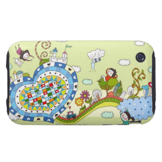 Heart -Shaped Road Tough iPhone 3 Cover