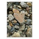 Heart Shaped Rock Greeting Card