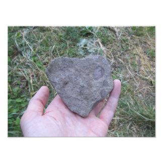 Heart Shaped Rock Photo Print