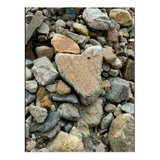 Heart Shaped Rock Postcard