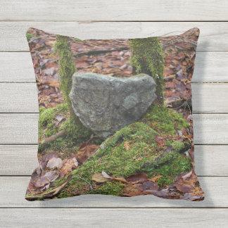 Heart-Shaped Rock Throw Pillow