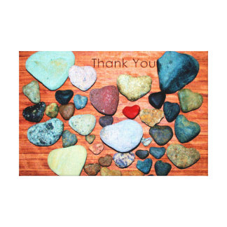 Heart-Shaped Rocks Show Gratitude Canvas Print