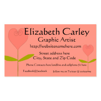 Heart Shaped Rose  Business Card