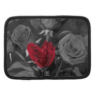 Heart Shaped Rose - Planner - Mini Folio