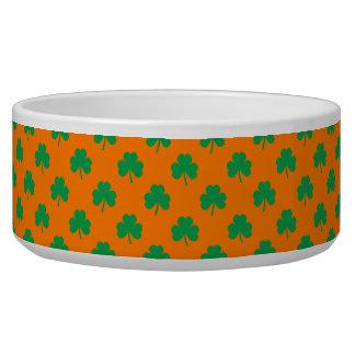 Heart-Shaped Shamrock Green on Orange St.Patrick's Bowl
