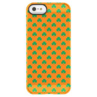 Heart-Shaped Shamrock Green on Orange St.Patrick's Uncommon Permafrost® Deflector iPhone 5 Case