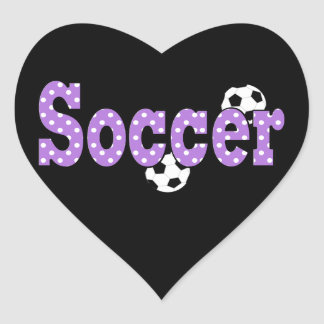 Heart Shaped Soccer Sticker