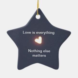 heart shaped star ornament