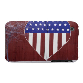 Heart-Shaped Stars and Stripes iPhone 3 Case