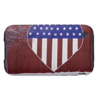 Heart-Shaped Stars and Stripes iPhone 3 Tough Covers
