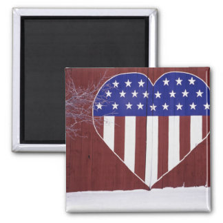 Heart-Shaped Stars and Stripes Magnet
