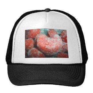 heart shaped strawberry trucker hat