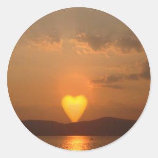 Heart Shaped Sun Stickers