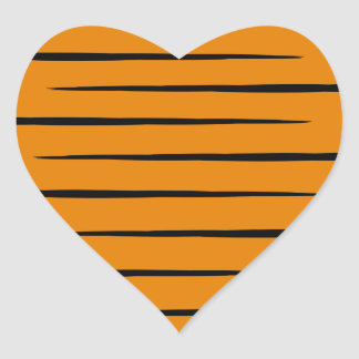 Heart-Shaped Tiger-Striped Stickers