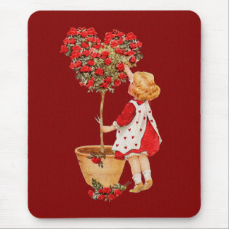 Heart Shaped Topiary Mouse Pad