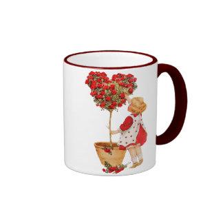 Heart Shaped Topiary Ringer Mug