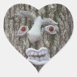 Heart Shaped:Tree Face Sticker