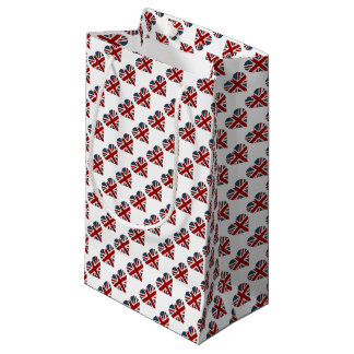 Heart Shaped Union Jack Flag Small Gift Bag