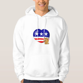 Heart-shaped USA Flag Hoodie