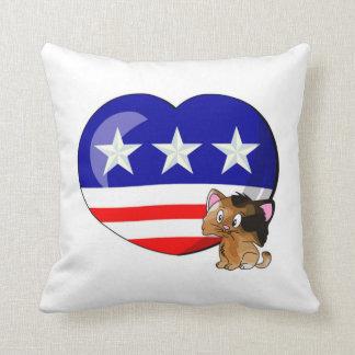 Heart-shaped USA Flag Pillows