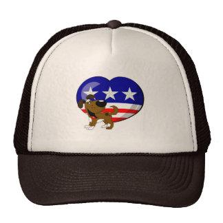 Heart-shaped USA Flag Trucker Hat