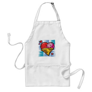 Heart Shaped V Day Ice Cream Adult Apron