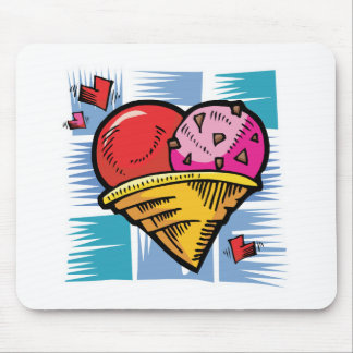 Heart Shaped V Day Ice Cream Mouse Pad