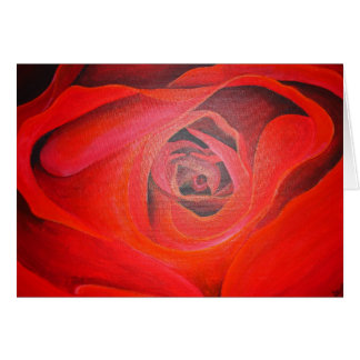 Heart Shaped Valentine Red Rose Card