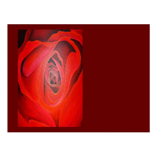 Heart Shaped Valentine Red Rose Postcard