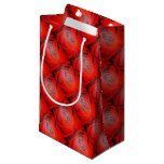 Heart Shaped Valentine Red Rose Small Gift Bag