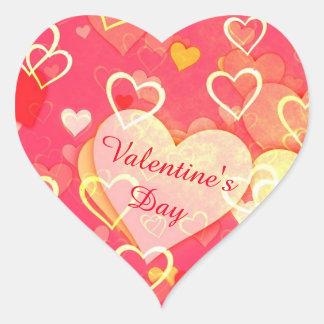 Heart Shaped Valentine's Day Sticker, Glossy Heart Sticker