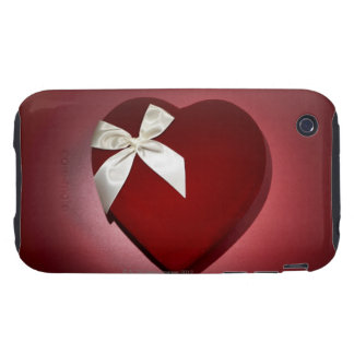 Heart shaped velvet box with ribbon iPhone 3 tough cases