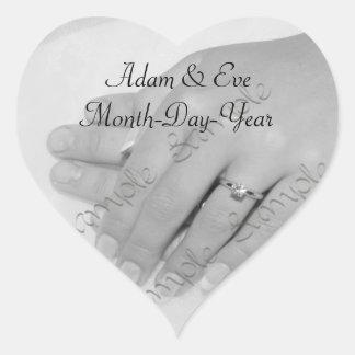 Heart Shaped • Wedding Keepsake Sticker