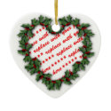 Heart Shaped Wreath Christmas Photo Frame Christmas Ornaments