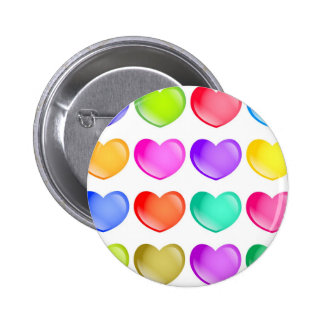 Heart Shapes 2 Inch Round Button