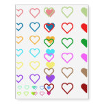 [ Thumbnail: Heart Shapes in a Variety of Colors Temporary Tattoos ]