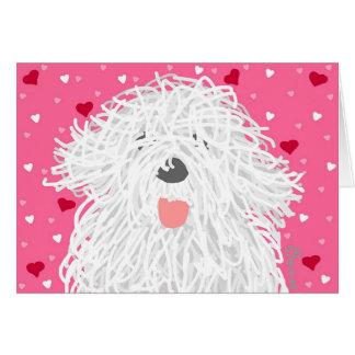 Heart Sheepdog Greeting Card