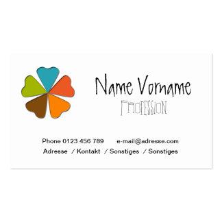 heart sheet business card