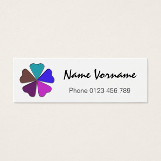 heart sheet mini business card