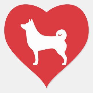 Heart Shiba Inu - Heart Sticker