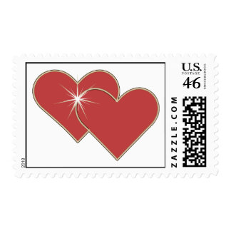 Heart Shine Sweetheart Postage Stamps