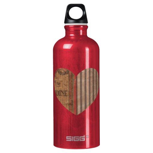 heart  SIGG traveler 0.6L water bottle
