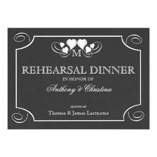 Heart Sign Rehearsal Dinner Card