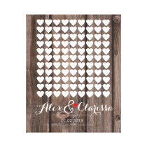 heart signing wedding guestbook guest book