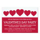 """Heart Silhouette Valetine's Day (Dark Red / White) 5"""" X 7"""" Invitation Card"""