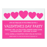 """Heart Silhouette Valetine's Day (Hot Pink) 5"""" X 7"""" Invitation Card"""