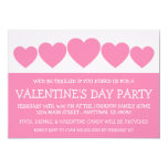 """Heart Silhouette Valetine's Day (Pink) 5"""" X 7"""" Invitation Card"""