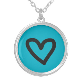 Heart Silver Plated Round Necklace