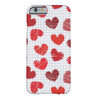 Heart Sketch Barely There iPhone 6 Case