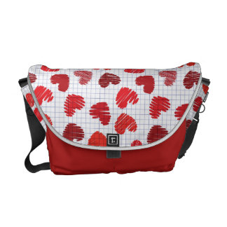 Heart Sketch Courier Bag